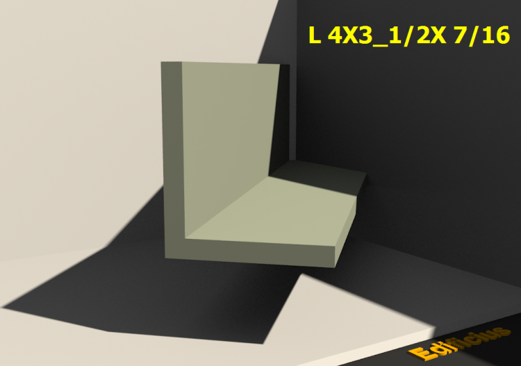 3D Profiles - L 4X3_1/2X 7/16 - ACCA software