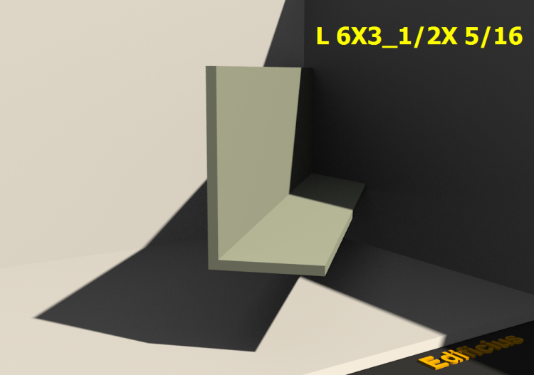 3D Profiles - L 6X3_1/2X 5/16 - ACCA software