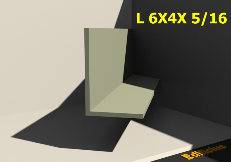 3D Profiles - L 6X4X 5/16 - ACCA software