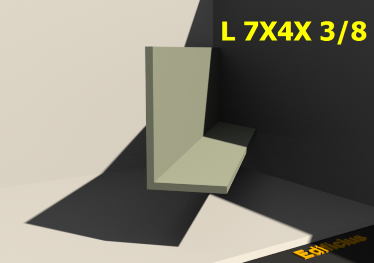 3D Profiles - L 7X4X 3/8 - ACCA software