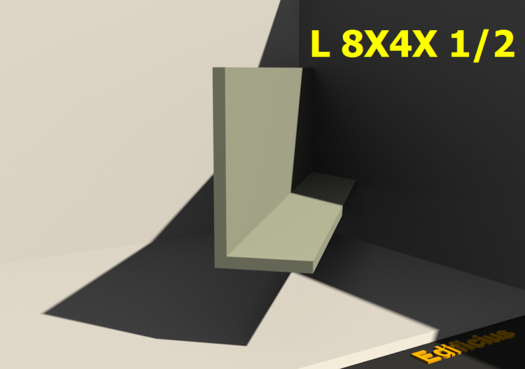 3D Profiles - L 8X4X 1/2 - ACCA software
