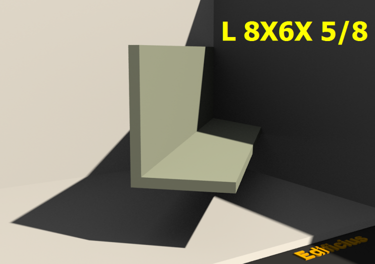 3D Profiles - L 8X6X 5/8 - ACCA software