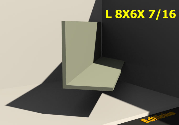 3D Profiles - L 8X6X 7/16 - ACCA software