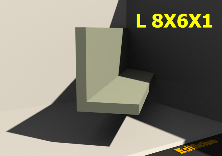 3D Profile - L 8X6X1 - ACCA software