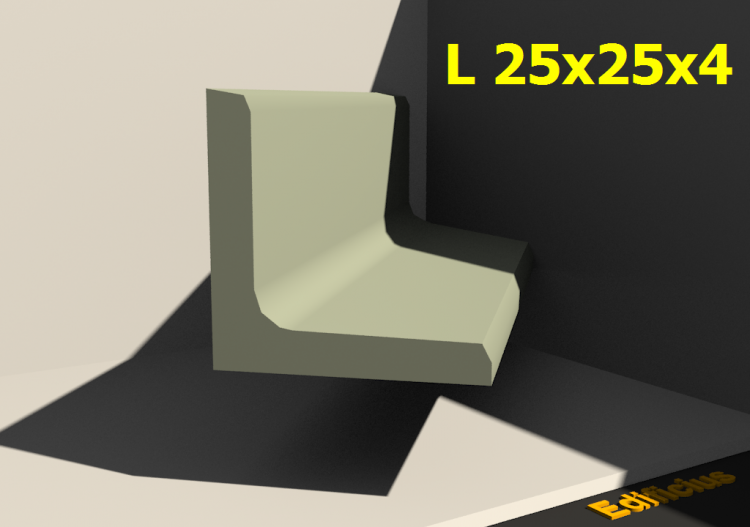 3D Profile - L 25x25x4 - ACCA software