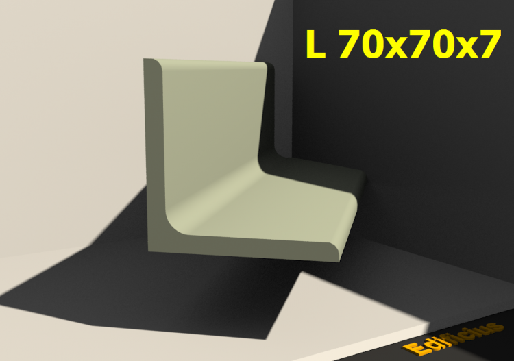 3D Profiles - L 70x70x7 - ACCA software