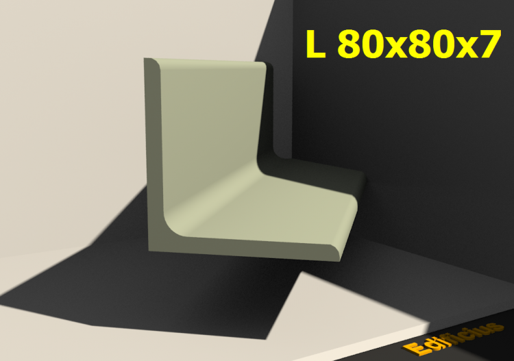 3D Profiles - L 80x80x7 - ACCA software