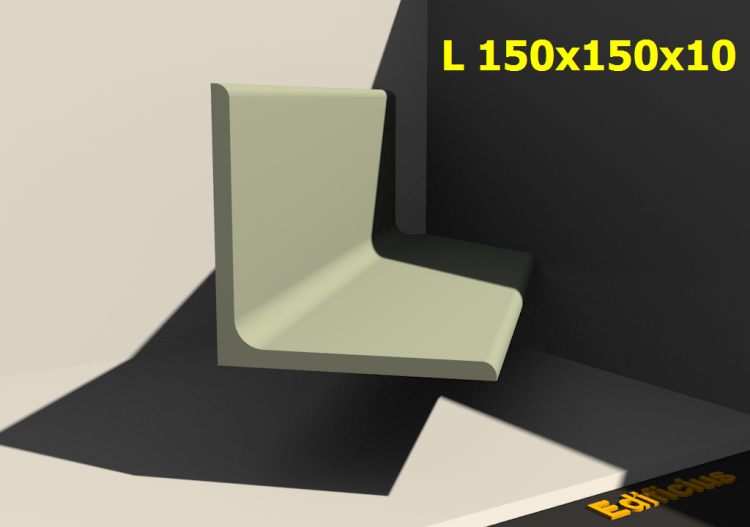 3D Profile - L 150x150x10 - ACCA software