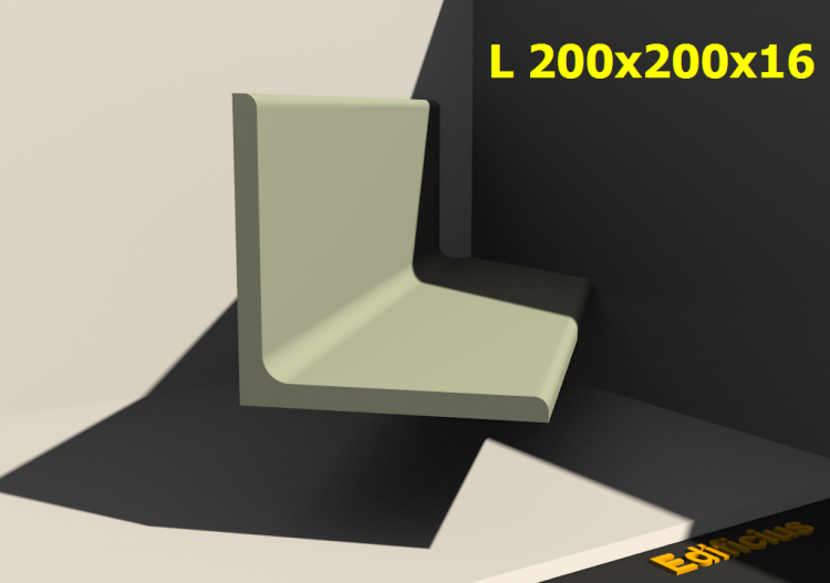 3D Profiles - L 200x200x16 - ACCA software