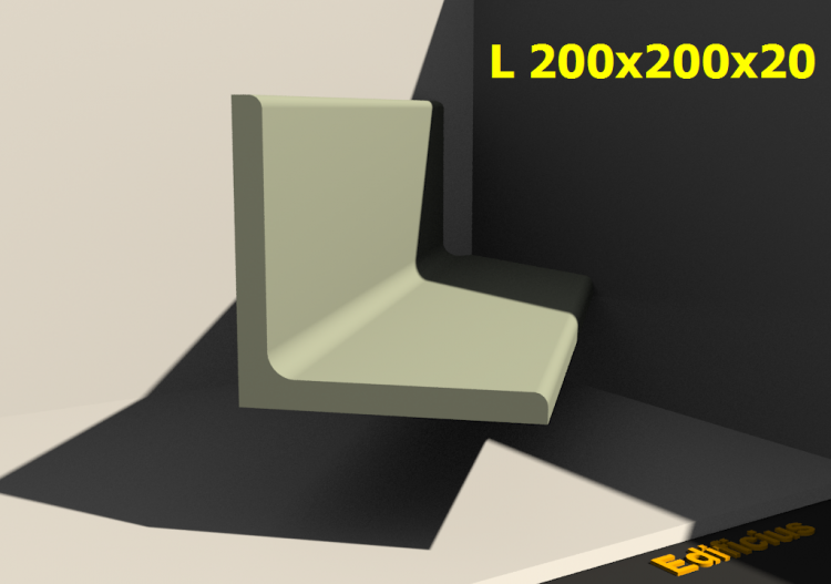3D Profiles - L 200x200x20 - ACCA software
