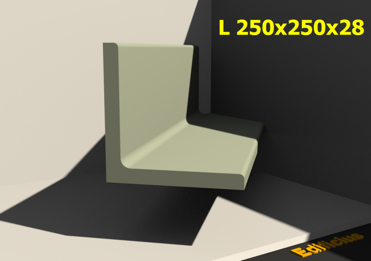 3D Profile - L 250x250x28 - ACCA software