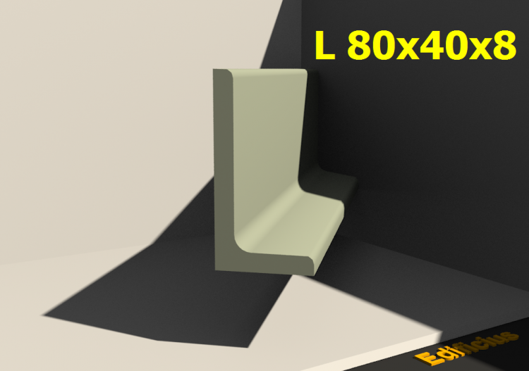 3D Profiles - L 80x40x8 - ACCA software