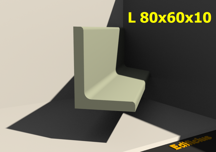 3D Profiles - L 80x60x10 - ACCA software