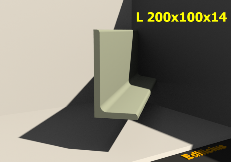 3D Profiles - L 200x100x14 - ACCA software