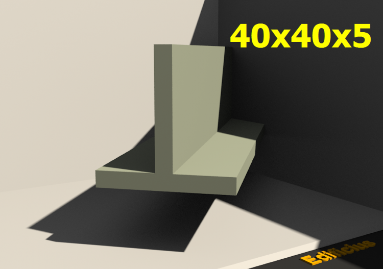 3D Profile - 40x40x5 - ACCA software