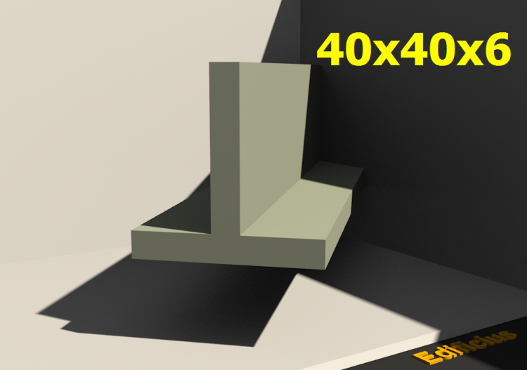 3D Profile - 40x40x6 - ACCA software