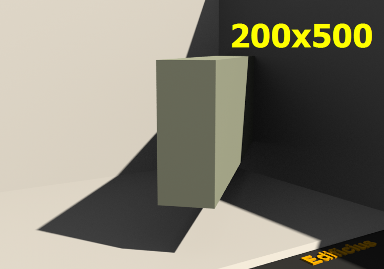 3D Profile - 200x500 - ACCA software