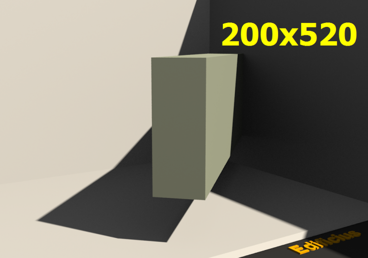 Perfilados 3D - 200x520 - ACCA software