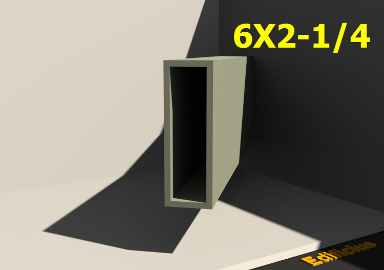 3D Profile - 6X2-1/4 - ACCA software