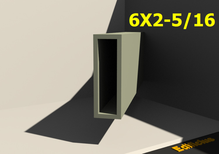 Perfilados 3D - 6X2-5/16 - ACCA software