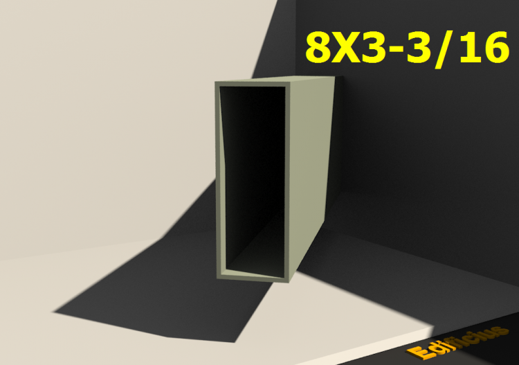 Perfilados 3D - 8X3-3/16 - ACCA software