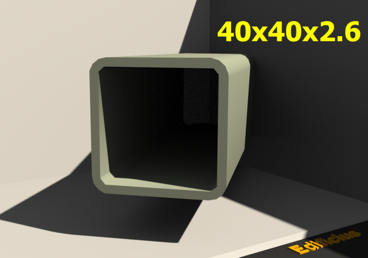 Perfilados 3D - 40x40x2.6 - ACCA software
