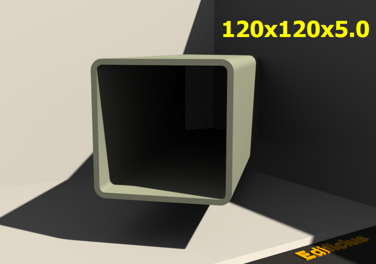 Perfilados 3D - 120x120x5.0 - ACCA software