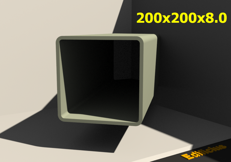 3D Profiles - 200x200x8.0 - ACCA software