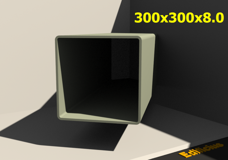 3D Profile - 300x300x8.0 - ACCA software