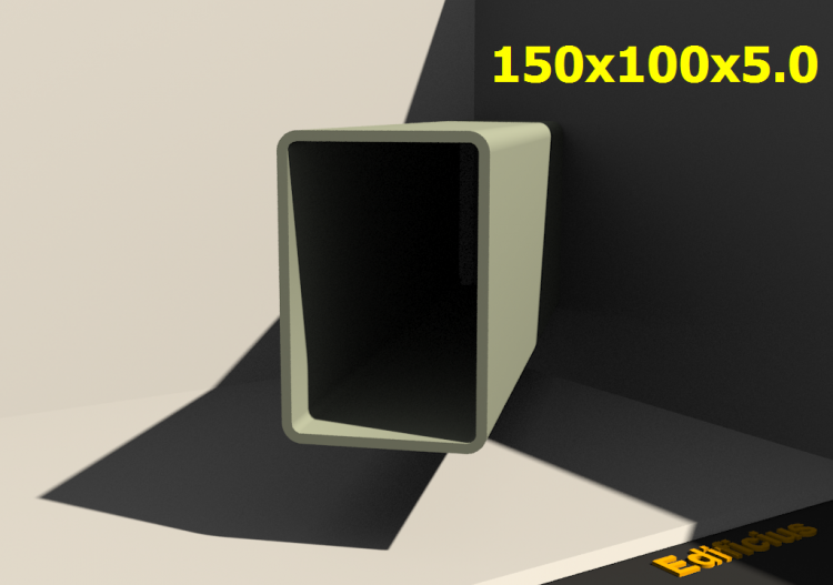 3D Profile - 150x100x5.0 - ACCA software