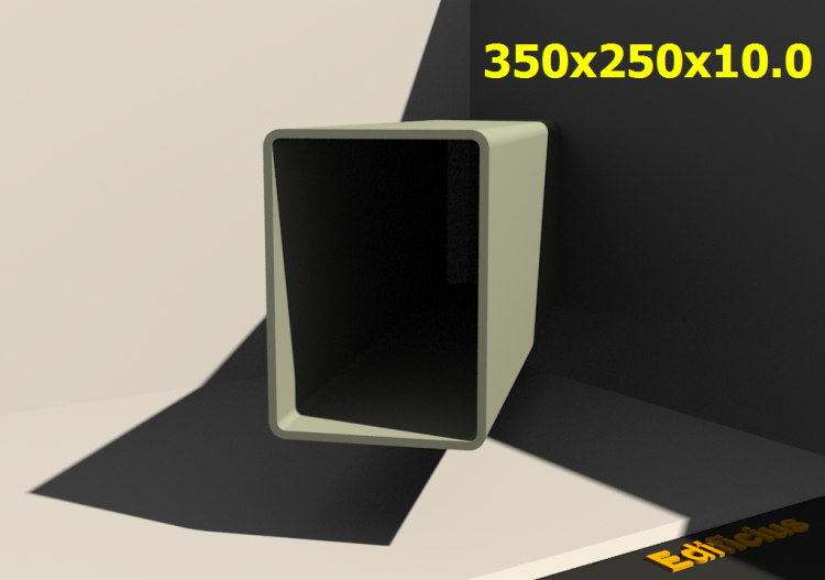 3D Profile - 350x250x10.0 - ACCA software