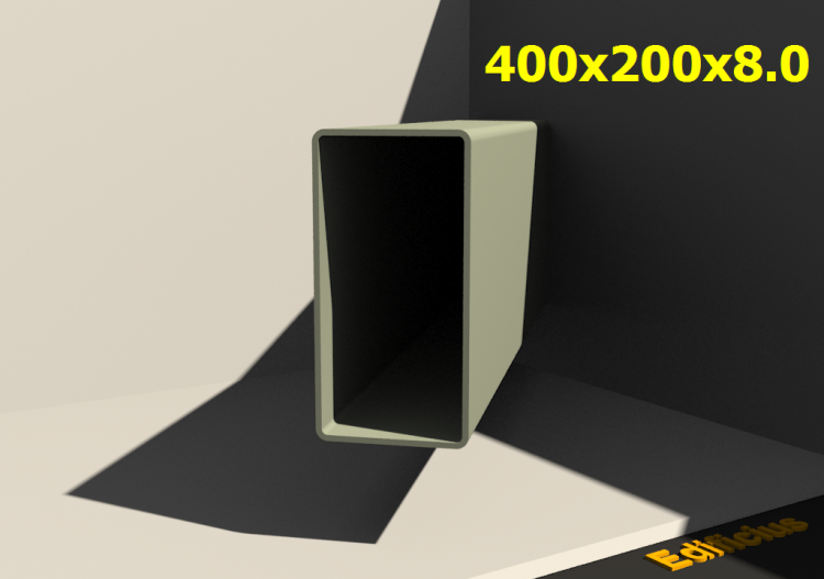 3D Profile - 400x200x8.0 - ACCA software