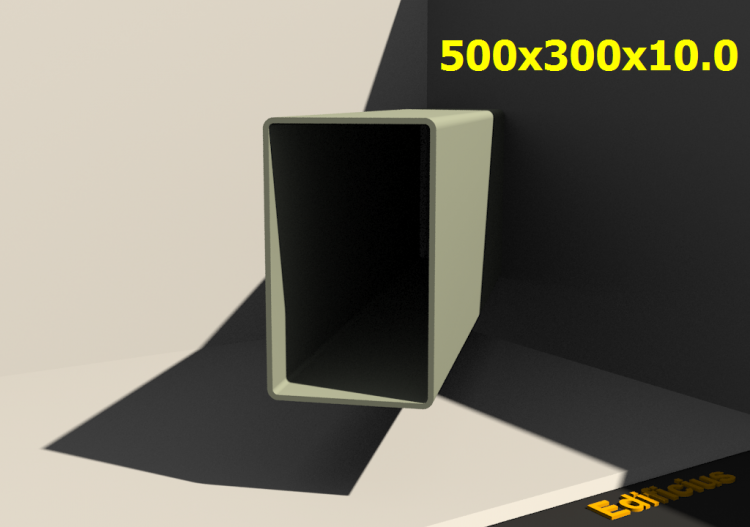 3D Profiles - 500x300x10.0 - ACCA software