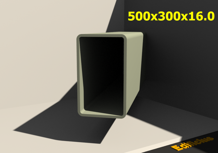 3D Profile - 500x300x16.0 - ACCA software