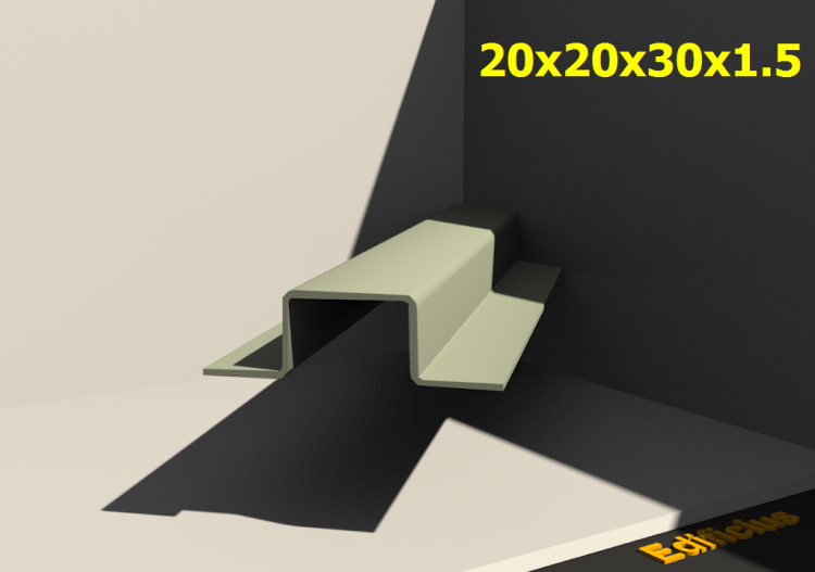 3D Profiles - 20x20x30x1.5 - ACCA software
