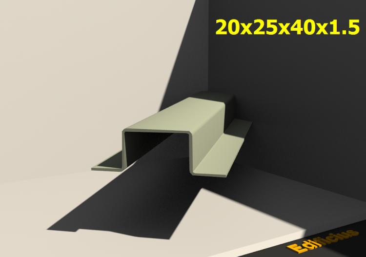 3D Profiles - 20x25x40x1.5 - ACCA software