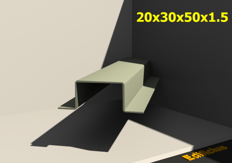 3D Profiles - 20x30x50x1.5 - ACCA software
