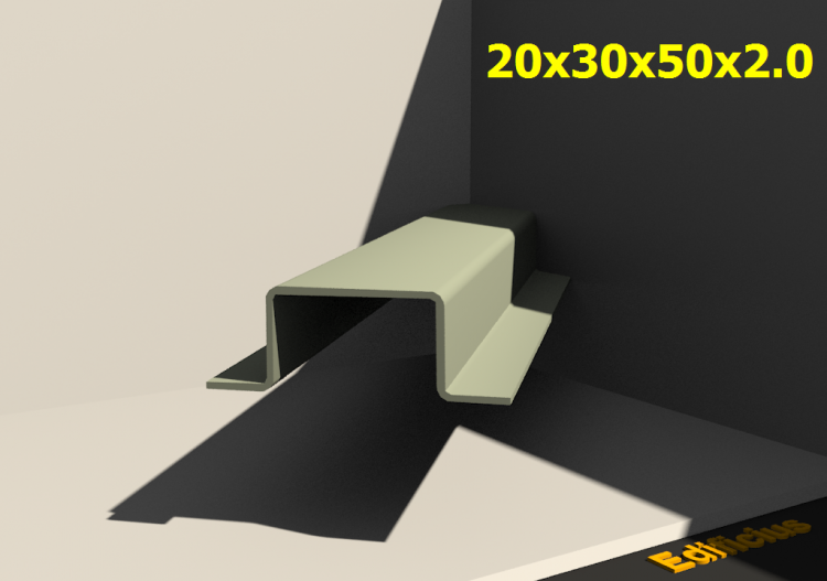 Perfilados 3D - 20x30x50x2.0 - ACCA software