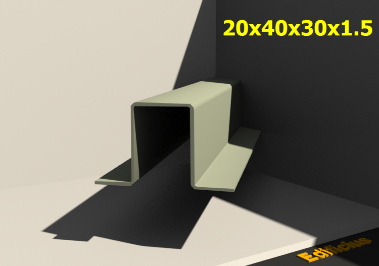 Perfilados 3D - 20x40x30x1.5 - ACCA software