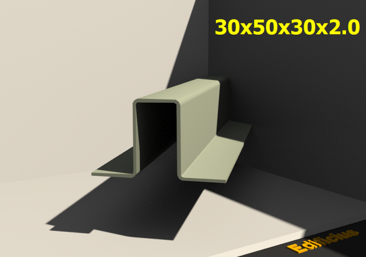 3D Profiles - 30x50x30x2.0 - ACCA software