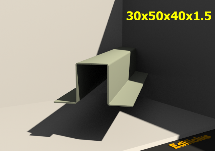 3D Profiles - 30x50x40x1.5 - ACCA software