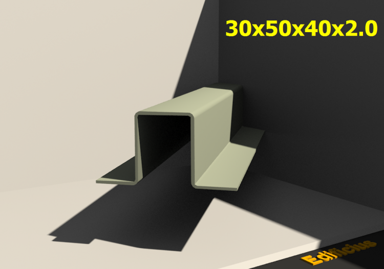 3D Profiles - 30x50x40x2.0 - ACCA software