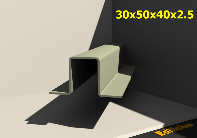 3D Profiles - 30x50x40x2.5 - ACCA software