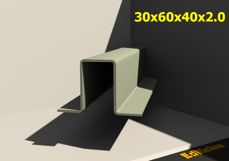 3D Profiles - 30x60x40x2.0 - ACCA software
