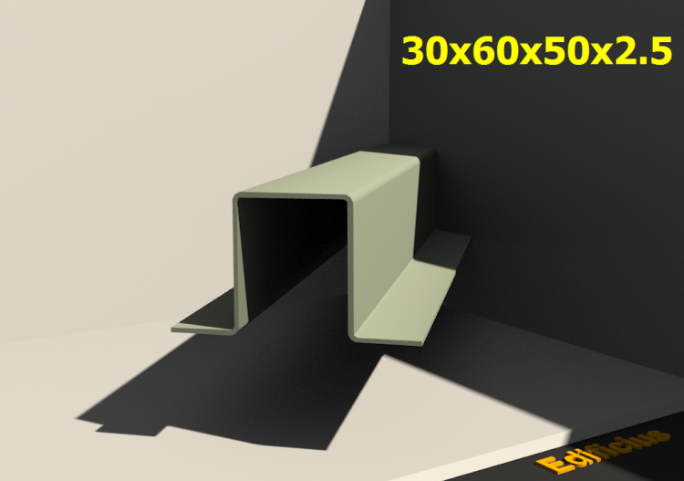 Perfilados 3D - 30x60x50x2.5 - ACCA software