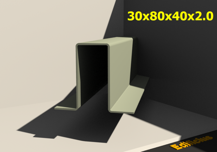 3D Profile - 30x80x40x2.0 - ACCA software