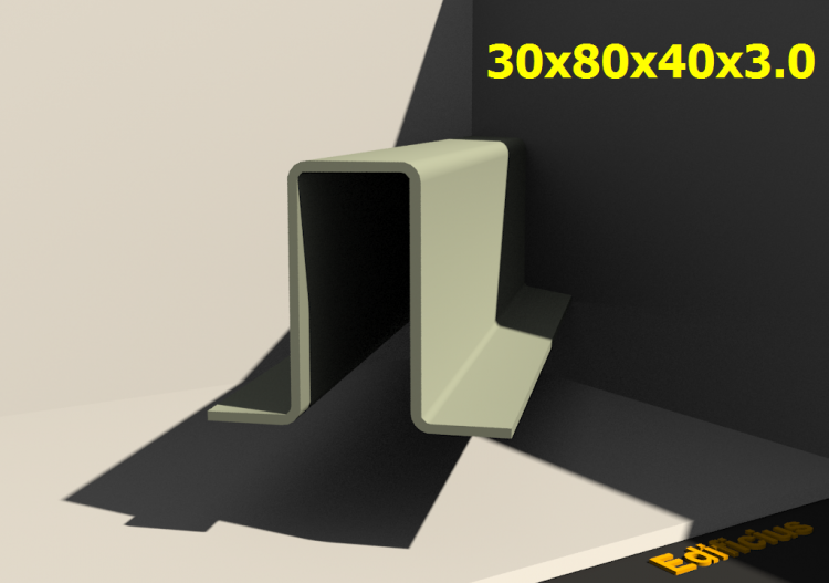 3D Profiles - 30x80x40x3.0 - ACCA software