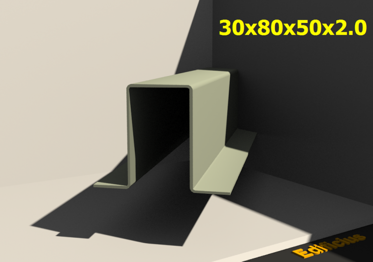 3D Profiles - 30x80x50x2.0 - ACCA software
