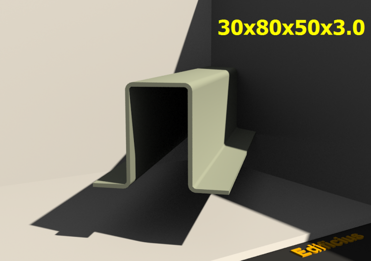 3D Profiles - 30x80x50x3.0 - ACCA software