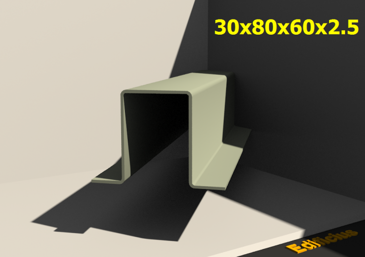 3D Profiles - 30x80x60x2.5 - ACCA software